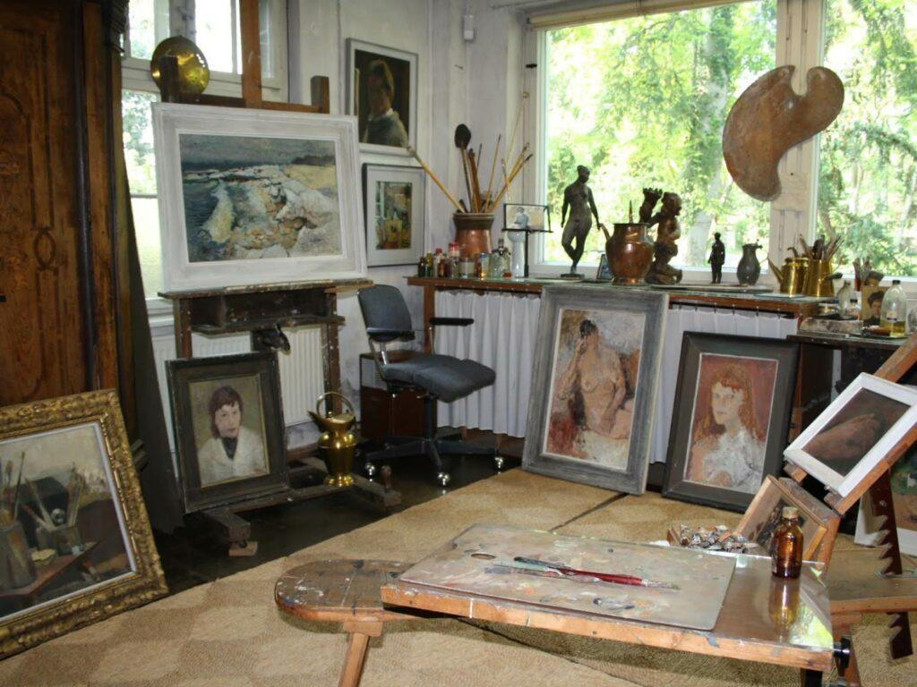 Das Atelier des Künstlers in Lüttenort (Koserow) kann besichtigt werden. © Museum Niemeyer-Holstein